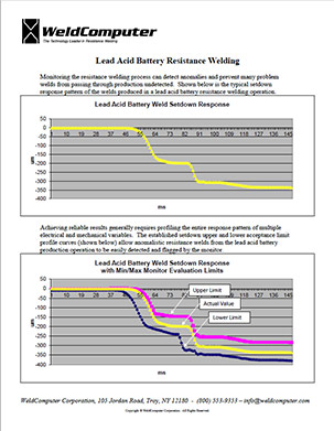 Lead Acid Battery Adaptive Resistance Welding - WeldComputer